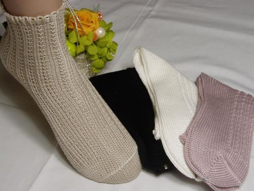 【綿100%】ゴムの締め付けいや~ゴム無し婦人靴下