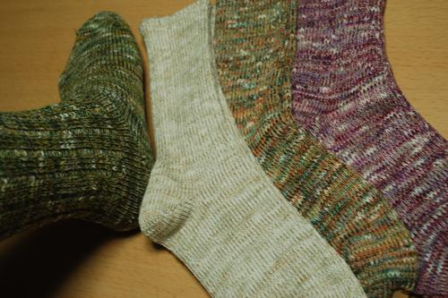 ゴムなし シルク綿混のセータの様な婦人靴下