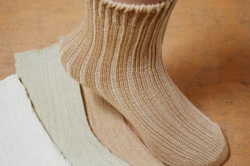 オーガニックコットン ざっくり綿100%靴下(婦人)